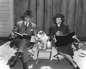 'The Thin Man' William Powell, Myrna Loy & Asta by Hollywood Historic Photos