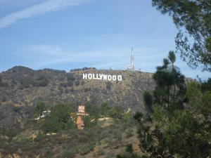 Hollywood Sign (From Afar) Art Poster Print