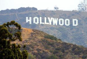 Hollywood Sign (Front) Art Poster Print