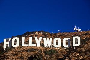 """Hollywood"" sign on the hillsides of Hollywood, Los Angeles, California"