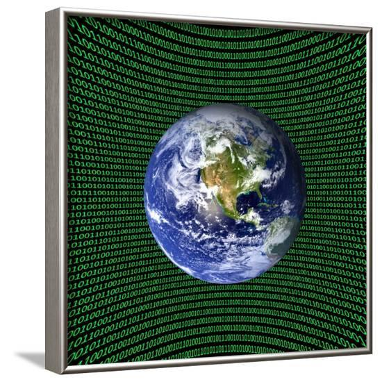 Holographic Universe, Conceptual Image--Framed Photographic Print