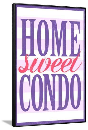 Home Sweet Condo Retro--Framed Poster