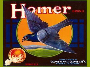 Homer Pigeon Label