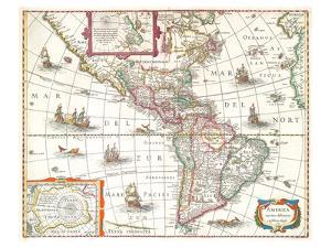 America noviter delineata 1631 by Hondio