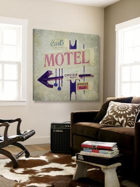 Carls Motel Sign by Honey Malek