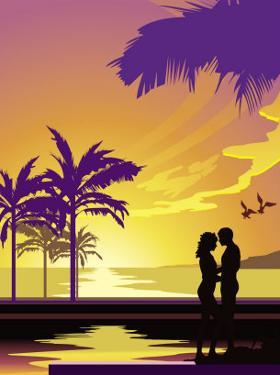 Honeymoon Couple on Pier