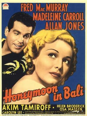 Honeymoon in Bali, Fred MacMurray, Madeleine Carroll, 1939