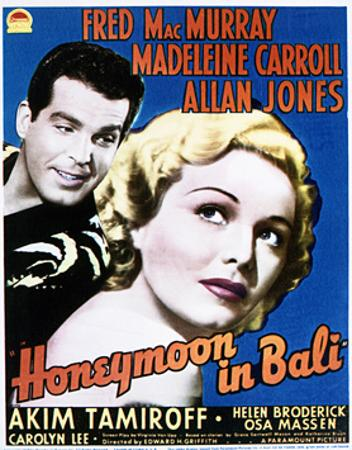 Honeymoon in Bali - Movie Poster Reproduction
