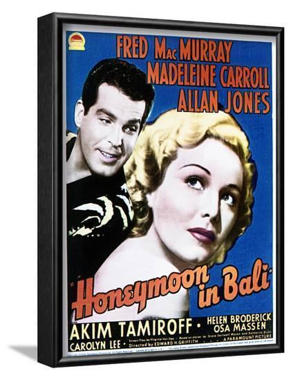 Honeymoon in Bali - Movie Poster Reproduction--Framed Art Print