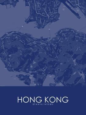 Hong Kong, Hong Kong, Special Administrative Region of China Blue Map