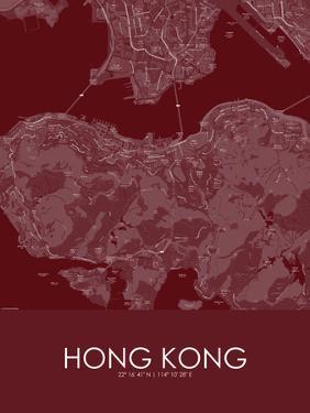 Hong Kong, Hong Kong, Special Administrative Region of China Red Map