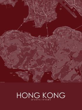Hong Kong, Hong Kong, Special Administrative Region of China Red Map