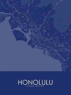 Honolulu, United States of America Blue Map