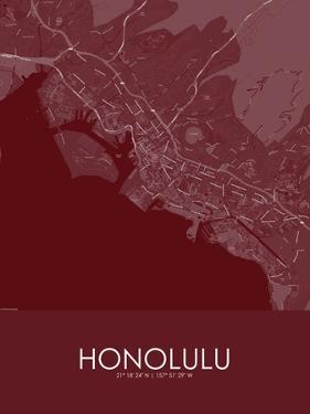 Honolulu, United States of America Red Map