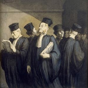Avant l'Audience by Honor' Daumier