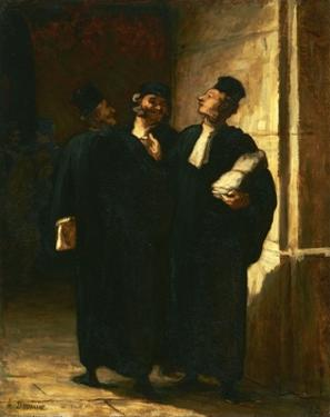 Three Lawyers by Honor' Daumier
