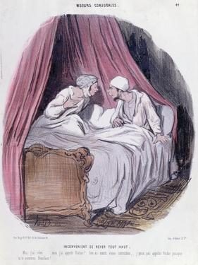 Cartoon About Marriage, Mid Nineteenth Century by Honore Daumier