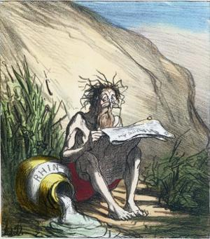 Diogenes by Honore Daumier