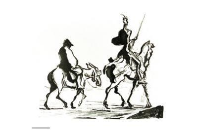 Don Quixote by Honore Daumier