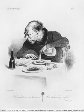 Galerie Physionomique, Une Lecture Entrainante, an Absorbing Subject, Plate 3, Le Charivari, 1836 by Honore Daumier