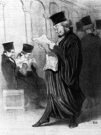 Les Gens De Justice, Cartoon from 'Le Charivari', 26 March, 1846 (Litho)