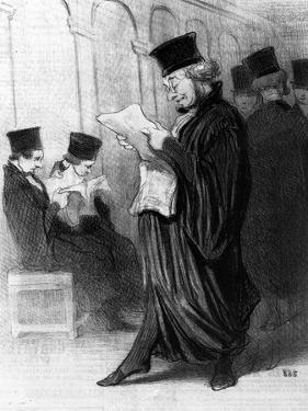 Les Gens De Justice, Cartoon from 'Le Charivari', 26 March, 1846 (Litho) by Honore Daumier