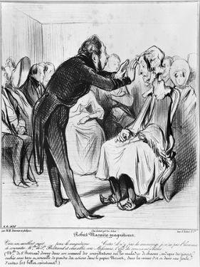 Robert Macaire Hypnotising by Honore Daumier