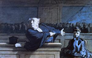 Scene at a Tribunal by Honore Daumier
