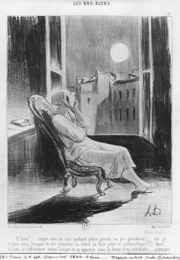 Series Les Bas-Bleus, O Moon!, Plate VIII, Le Charivari, 28 February 1844 by Honore Daumier