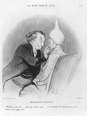 Series 'Les beaux jours de la vie', A Happy Find, illustration from 'Le Charivari', 11th September  by Honore Daumier