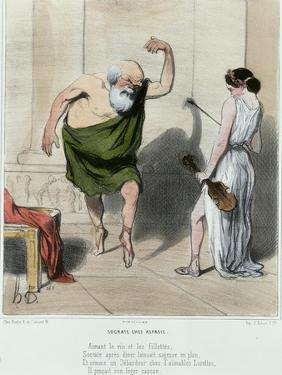 Socrates Visiting Aspasia by Honore Daumier