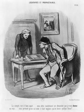 Tenants and Owners by Honore Daumier
