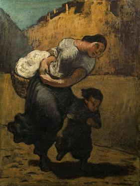 The Burden by Honore Daumier