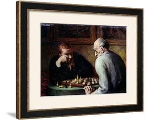 The Chess Players, circa 1863-67 by Honore Daumier