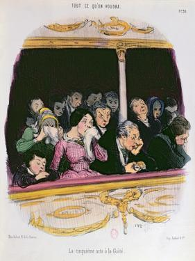 The Fifth Act at the Gaiety Theatre', Mid Nineteenth Century by Honore Daumier