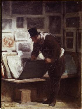 The Print Lover by Honore Daumier