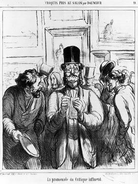 The Promenade of the Influential Critic', Cartoon from 'Charivari' Magazine, 24 June, 1865 (Litho) by Honore Daumier