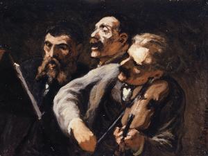 Trio d'amateurs by Honoré Daumier