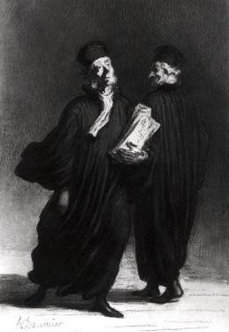Two Lawyers, circa 1862 by Honore Daumier