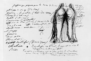 Page of the Album 'Pensees, Sujets, Fragments', 1833 by Honore de Balzac