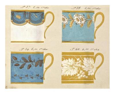 Quatre tasses du 1er choix, ca. 1800-1820