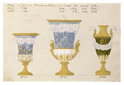 Trois vases en blanc du 1er choix, ca. 1800-1820