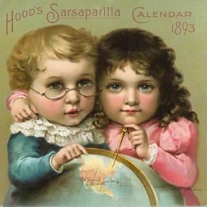 Hood's Sarsaparilla Calendar Color Lithograph