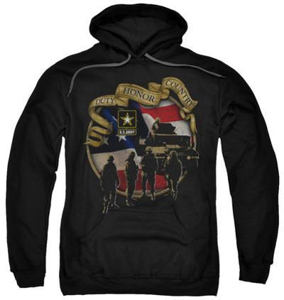 Hoodie: Army - Duty Honor Country
