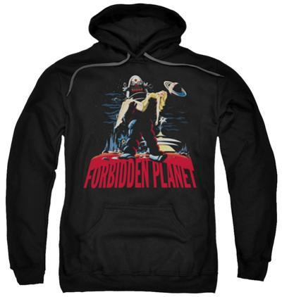 Hoodie: Forbidden Planet - Robby And Woman