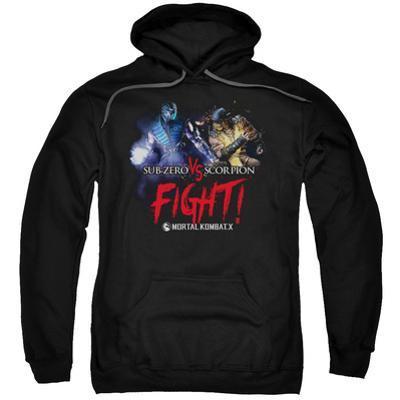 Hoodie: Mortal Kombat X- Sub-Zero Vs. Scorpion