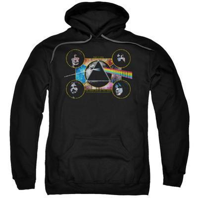 Hoodie: Pink Floyd- Distressed Dark Side Band Stamp