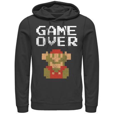 Hoodie: Super Marios Bros- Classic Distressed Game Over