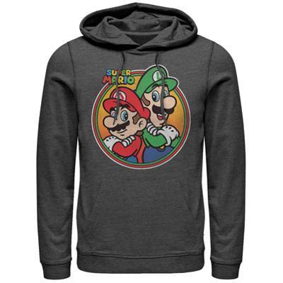 Hoodie: Super Marios Bros- Super Bro Button