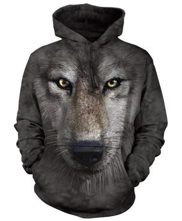 Hoodie: Wolf Face